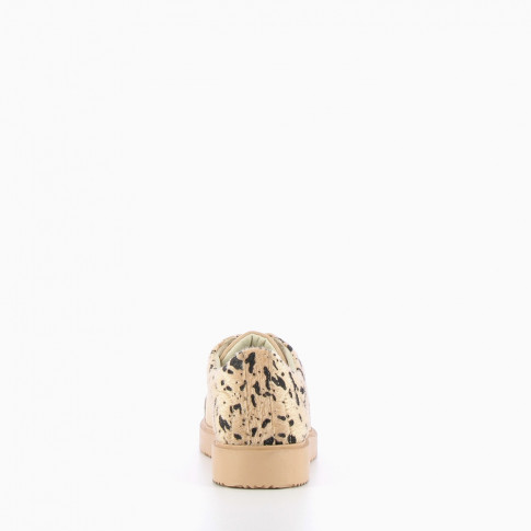 Animal print beige trainers