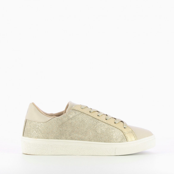 Taupe grey platform trainers