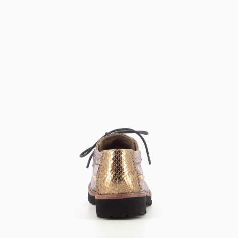 Gold brogues with scaled effect