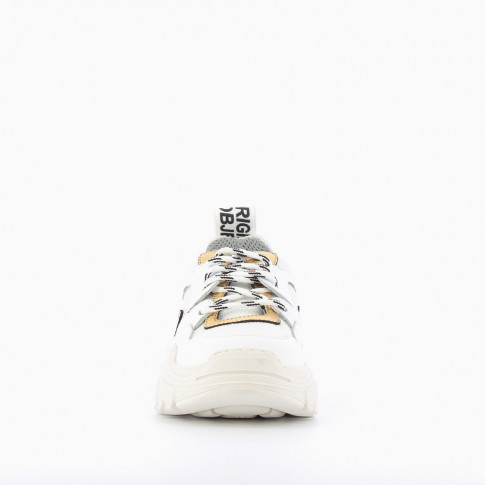 """The Only One"" white and gold sneakers"