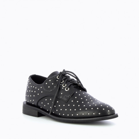 Black studded brogues