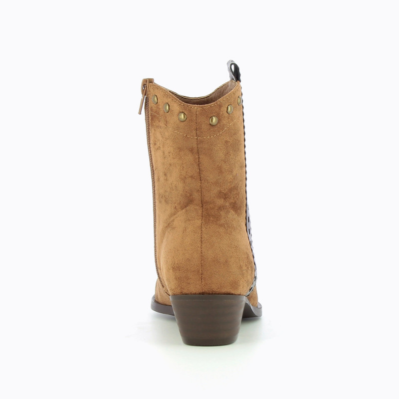separation shoes d0014 9eaa7 Camel Cowboy boots with laced strap