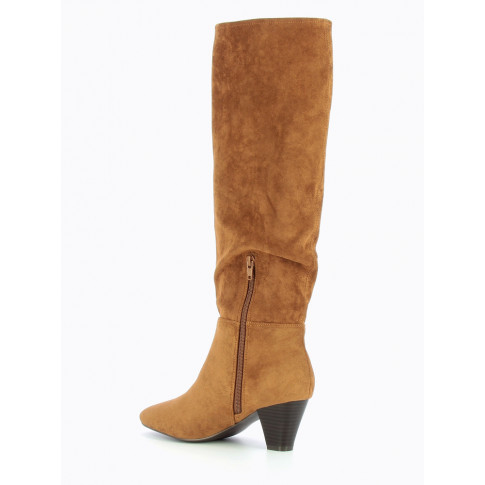 Camel suedette slouchy boots