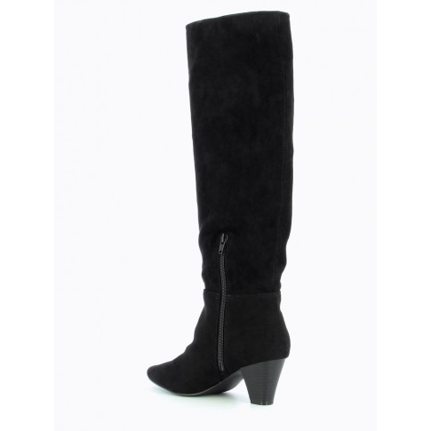 Black suedette slouchy boots