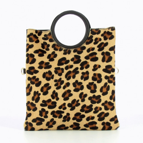 2 in 1 leopard tote bag