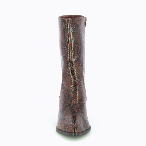 Snakeskin mid calf cowboy boots